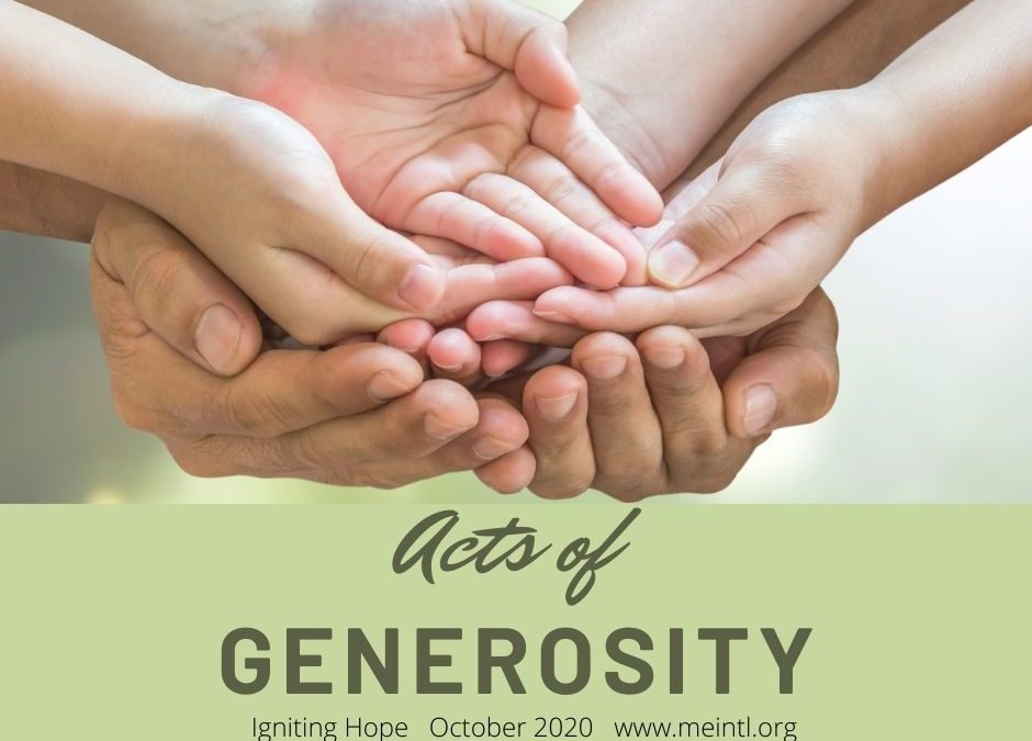 Igniting Hope through Acts of Generosity